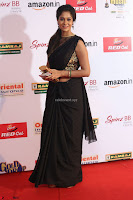 Sindhu looks fabulous in Black Saree designer choli at Mirchi Music Awards South 2017 ~  Exclusive Celebrities Galleries 058.JPG