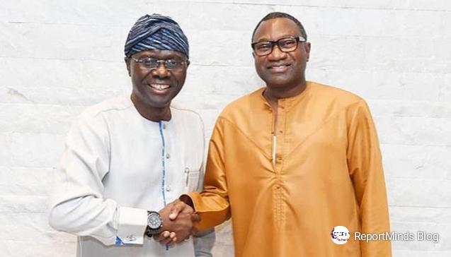 Babajide Sanwo-olu visits Femi Otedola