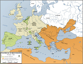 Mapa de Europa en 1580