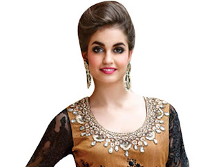 Round neck:- A rounded neck close to the neck, bigger than a crew-neck. Women with long, thin or regular neck and also suitable for smaller busts. Women with short and  wider neck or bigger chest should not go with this type of neckline.