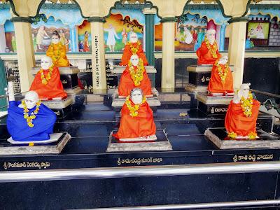 Nine Avadhuta Statues Kurnool Sai Baba Temple