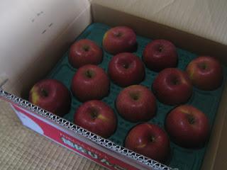 真っ赤なふじりんご