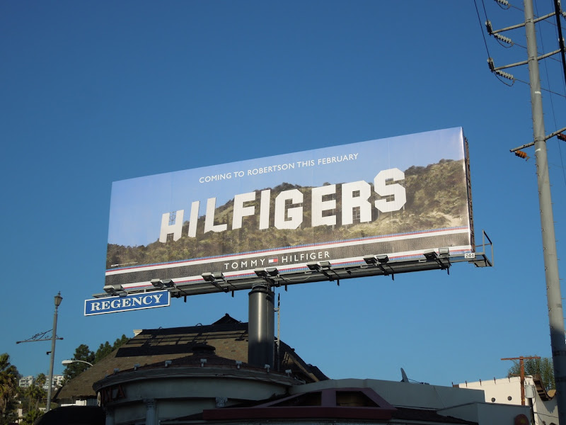 Hilfigers Hollywood Sign homage billboard