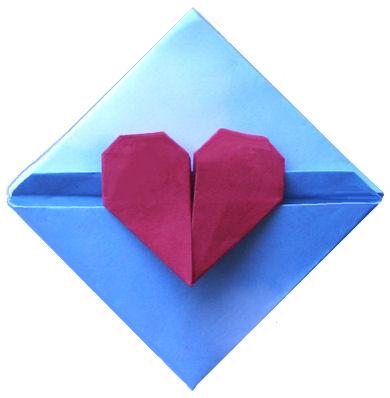 CREATIVE CREASINGS: DIAMOND HEART LETTERFOLD