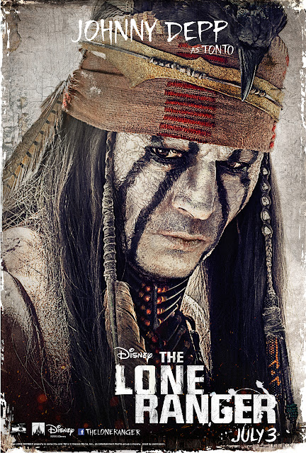 Johnny Depp as Tonto.    Still wondering what that bird on his head is all about.