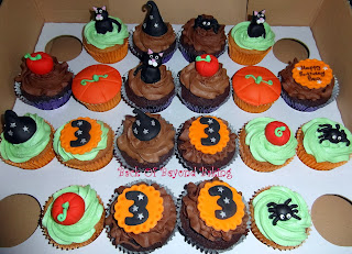 Halloween Birthday cupcakes