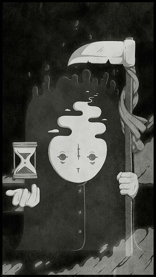 Ilustración, dibujo y lettering por Christi du Toit