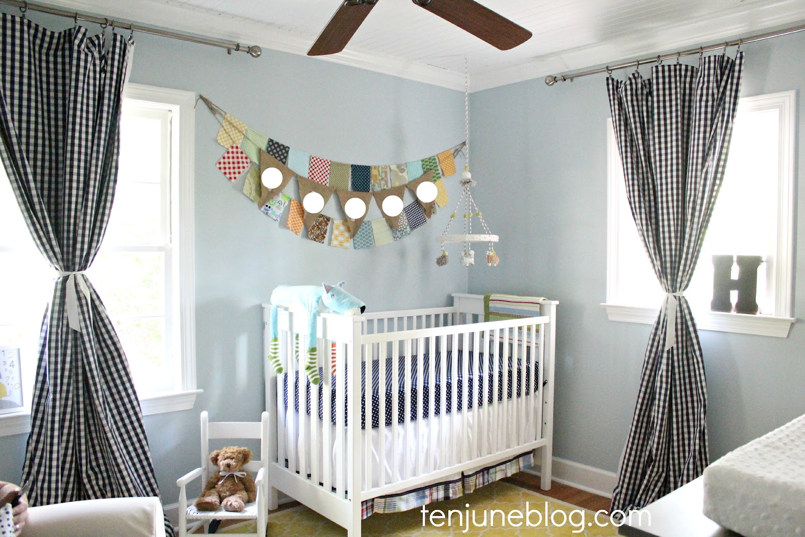 Boys Nursery Curtains Ten June Baby Boy Nursery Source List