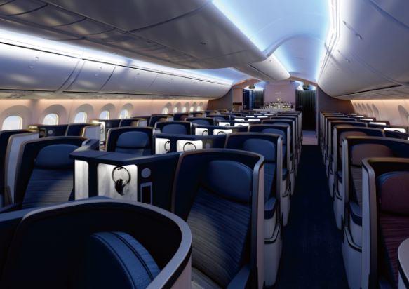 Boeing 787-9 Dreamliner cabin interior