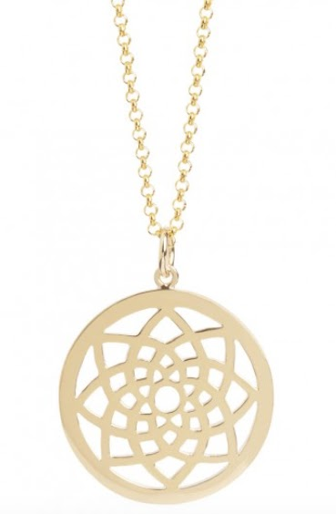 Muru Prosperity Dreamcatcher Gold Vermeli Necklace