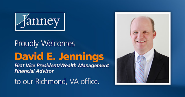 David E. Jennings First VP Financial Advisor Janney Richmond Virginia