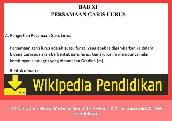 Kumpulan Modul Matematika SMP Kurikulum  10 Kumpulan Modul Matematika SMP Kelas 7 8 9 Terbaru Jilid 2   Wiki Pendidikan
