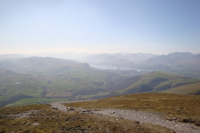 Now on the decent - with good views looking towards Keswick & Derwent Water.