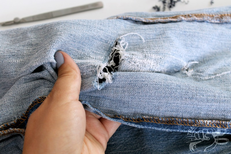 how to patch jeans by hand sewing