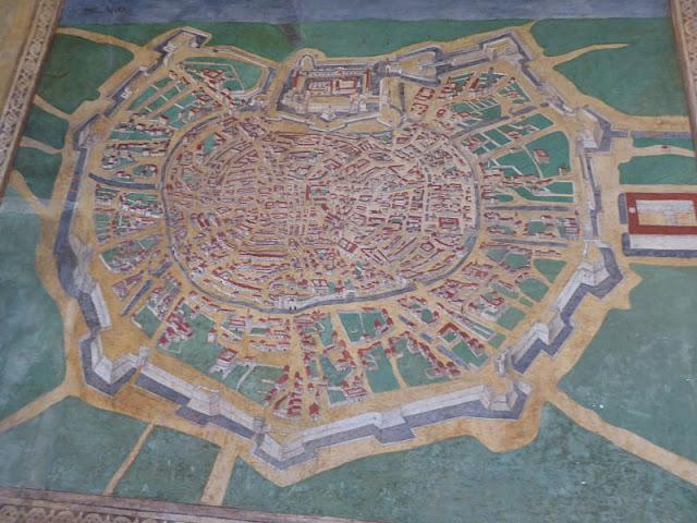 mappa di Milano nel palazzo doria spinola