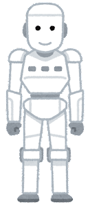 人型ロボットのイラスト(白)