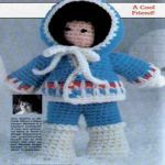 patron gratis muñeca esquimal amigurumi   free pattern amigurumi Eskimo doll