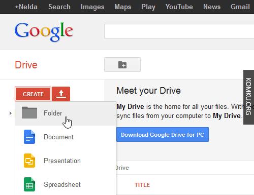 Google Drive - Create Folder