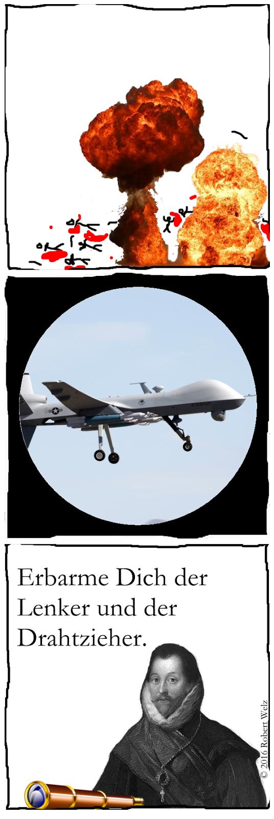 Drohnen, Völkerrecht, Unrecht, Mord, USA, Militär, Wegschauen, Verbrechen, Satire, Webcomic