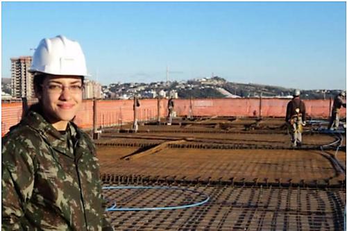 Rotina de uma Engenheira no Exército