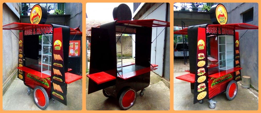 Gerobak Hotdog Dorong dan Hotdog Sepeda Rp 6.800.000
