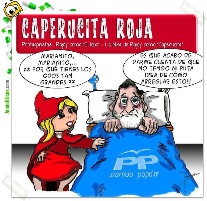 Chiste de Mariano Rajoy y Caperucita