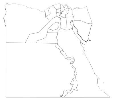 image: Blank white outline Egypt map