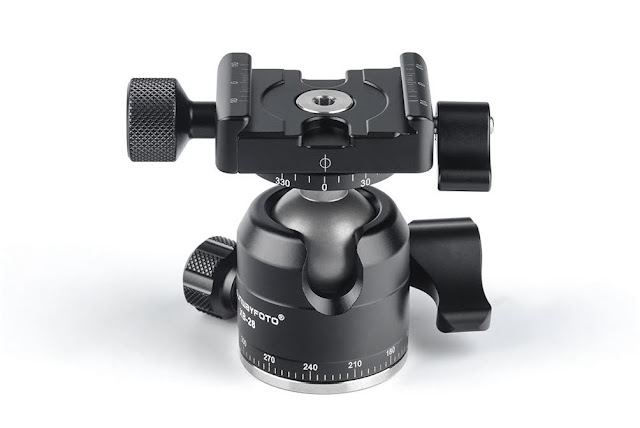 Sunwayfoto XB-28II Low Profile Double Pan Ball Head front