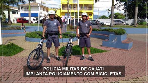 CAJATI É A 2º CIDADE DO VALE DO RIBEIRA A RECEBER POLICIAMENTO COM BICICLETAS