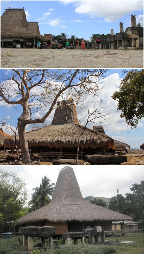 Rumah Kampung Adat Waingapu yang Terletak di Sumba
