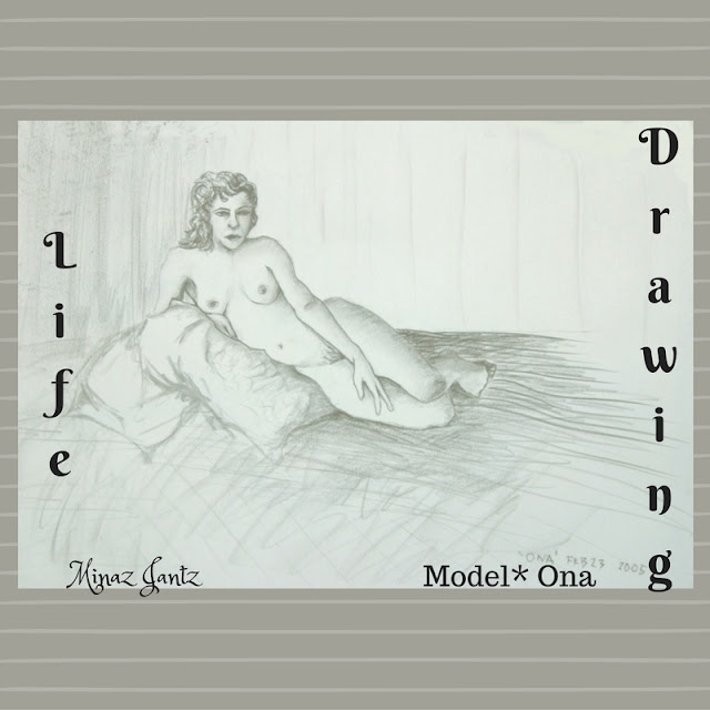 Life Drawing by Minaz Jantz Model Ona