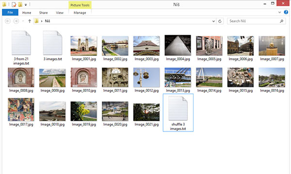 Folder view with images and Data Sets