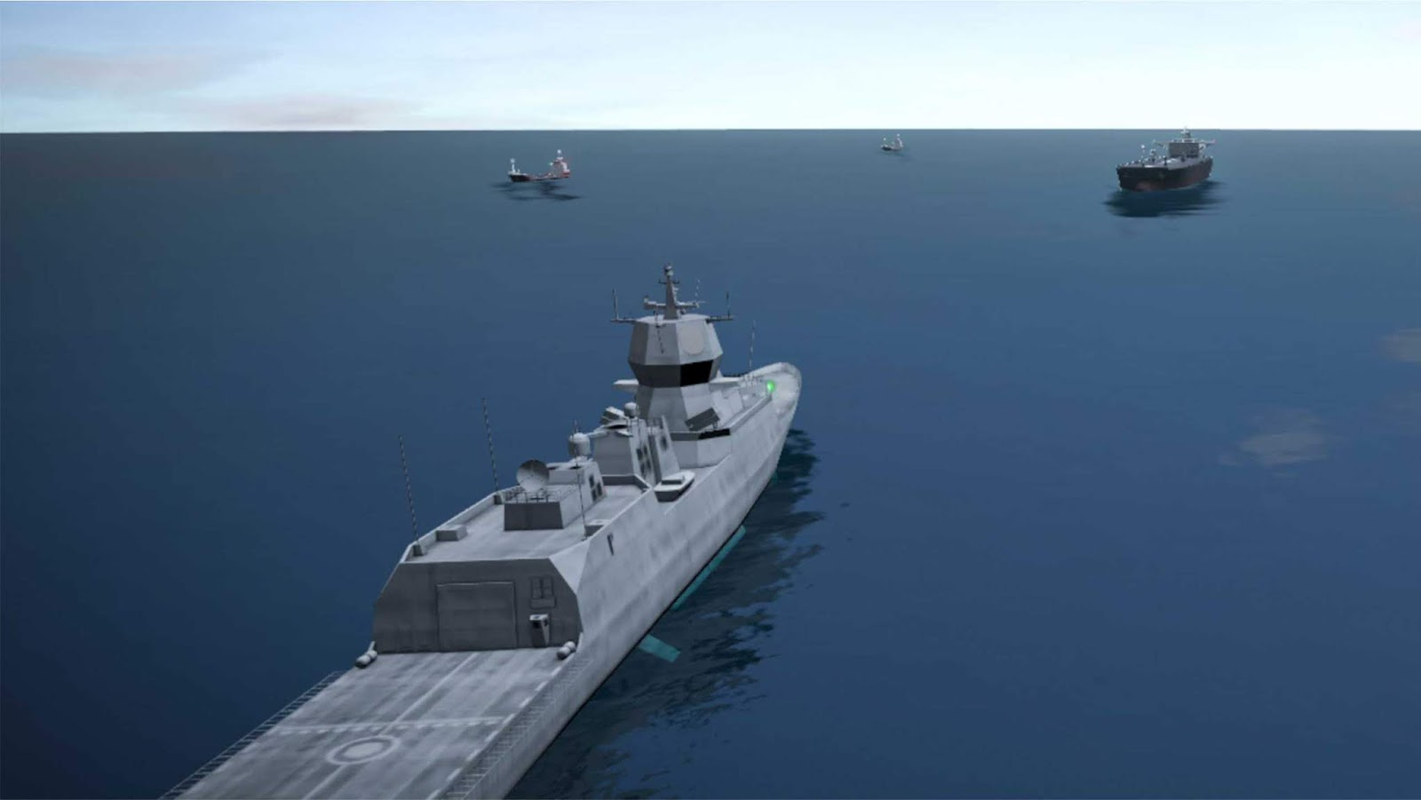 Rekonstruksi 3D tabrakan kapal tanker dengan fregat Norwegia KNM Helge Ingstad