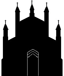 church with door silhouette
