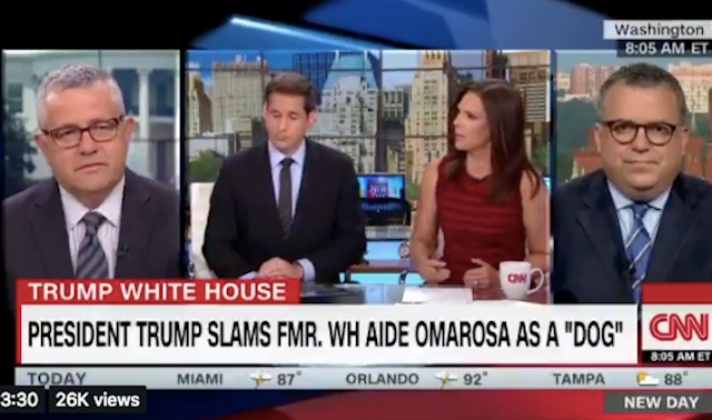 CNN: Trump Is Racist For Saying Omarosa Was Fired Like A 'Dog'