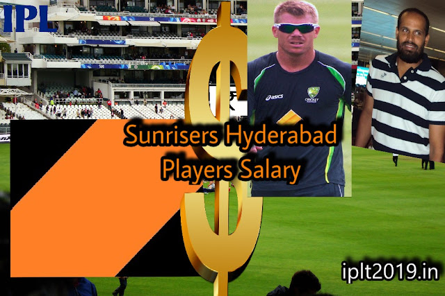 Salary of Sunrisers Hyderabad (SRH)  Players in IPL 2019