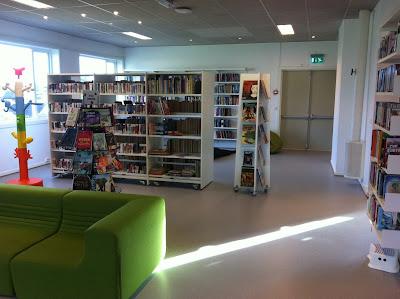 Barne og ungdomsavdelingen på Råholt Bibliotek