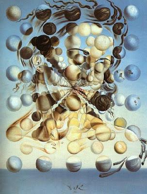 Foto a la pintura Galatea de las esferas de Salvador Dalí
