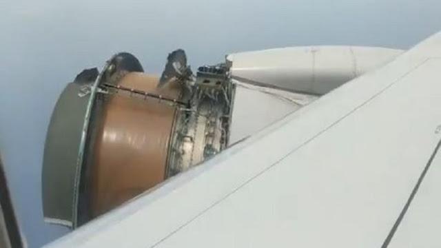 Τρόμος στον αέρα - Επιβάτες έβλεπαν να ξηλώνονται κομμάτια από τον κινητήρα του αεροπλάνου την ώρα της πτήσης (video)