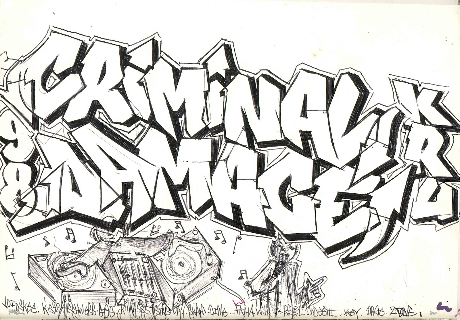 Least Blogged: Digging in the sketchbook crates.. circa 95-98