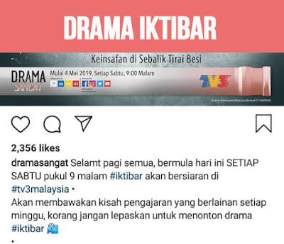 Senarai Pelakon dan Sinopsis Drama Iktibar