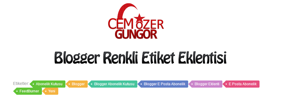 Blogger Renkli Etiketler Eklentisi