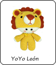 Yoyo León amigurumi