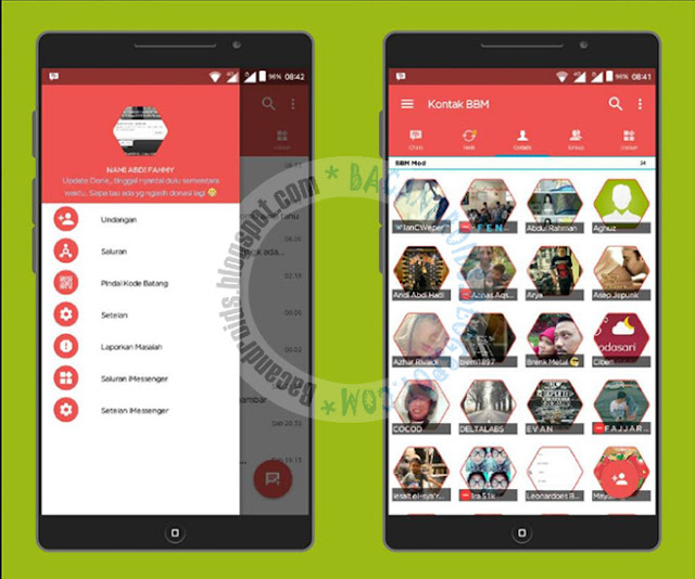 BBM mod iMessenger update v10.2.10 Base v3.2.3.11 Apk Terbaru For Android