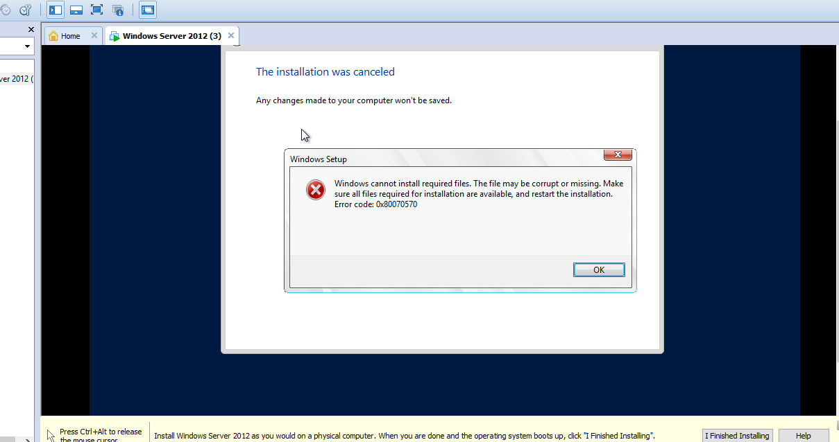 SQL24by7: How to Fix error Code: 0x80070570 when installing