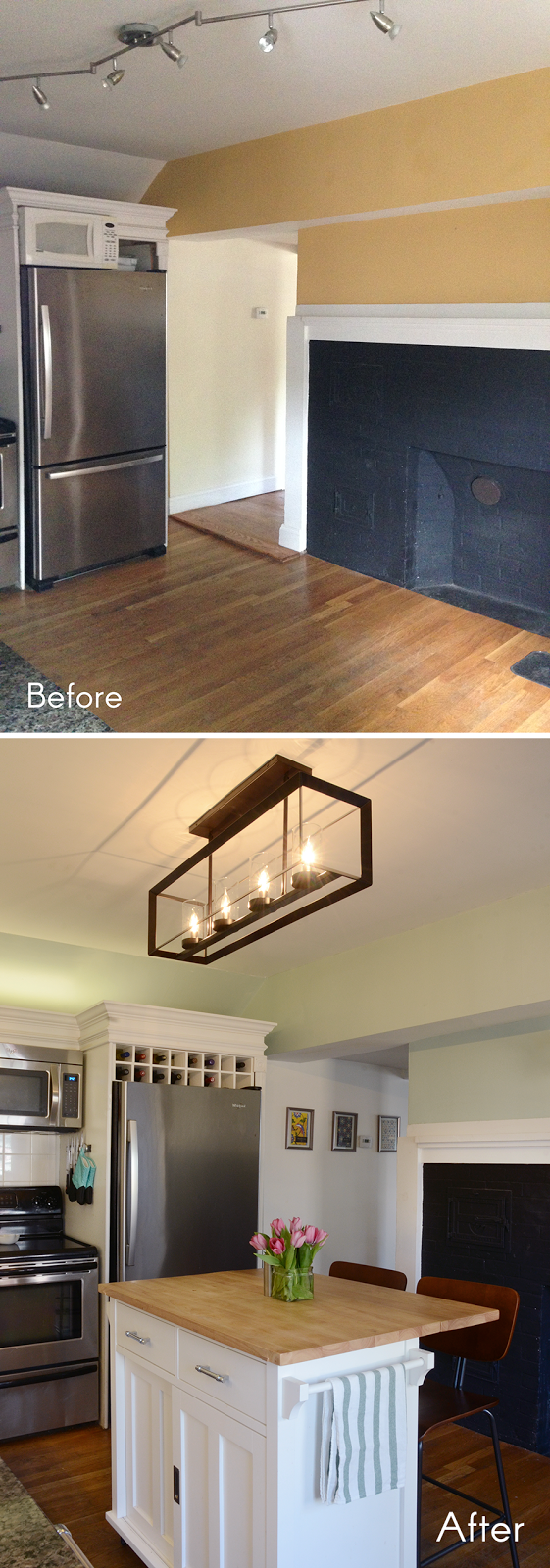 Before & After: New Kitchen Lighting For The Win /// By Design Fixation