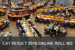 cat result 2016 online roll no