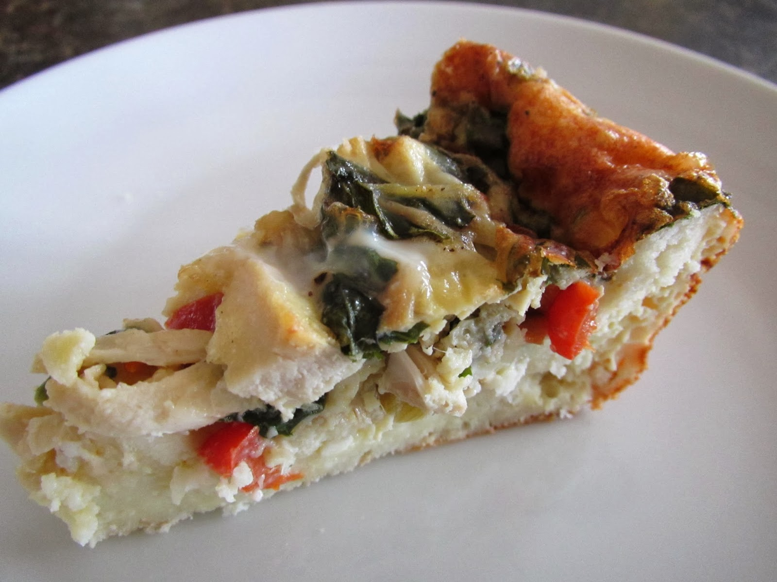 Gluten Free Chicken Spinach and Feta Quiche with Buttermilk Biscuit Crust