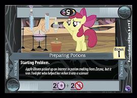 My Little Pony Preparing Potions Primer Deck CCG Card