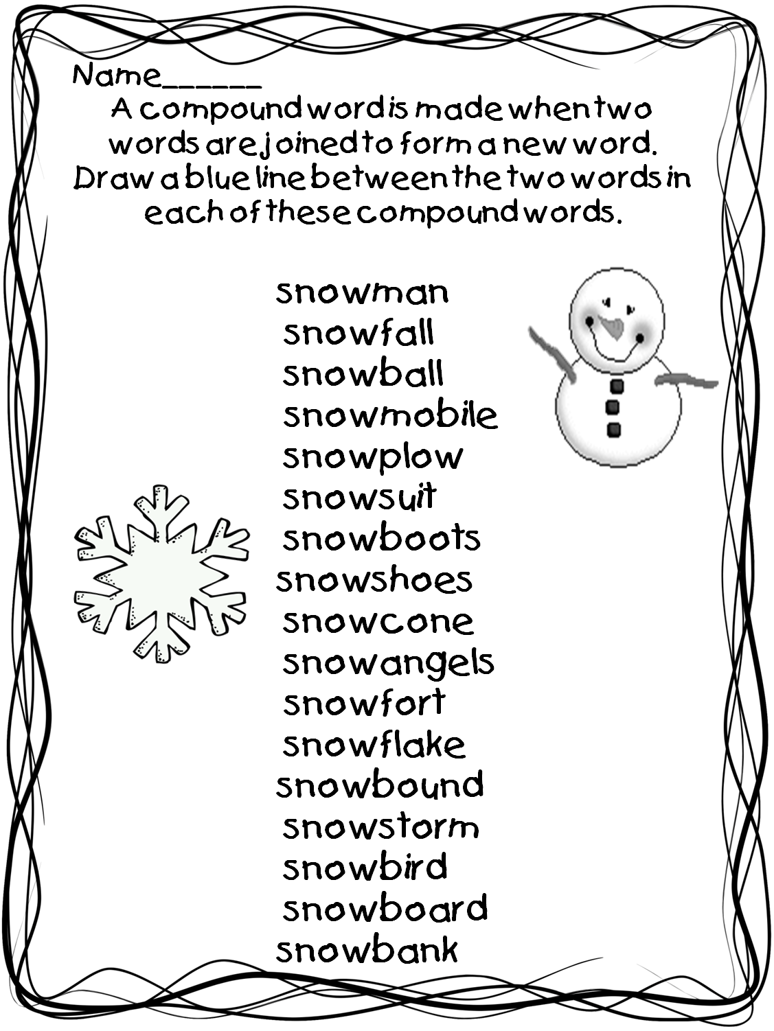 First Grade Wow There S Snow Time Like Winter